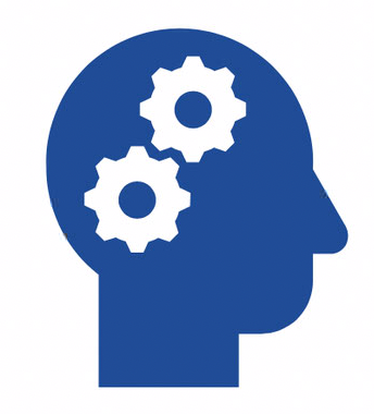 Image of head with gears inside – improvement of executive functioning skills