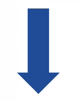 Downward blue arrow